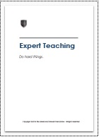ESF Approach to Teaching and Learning